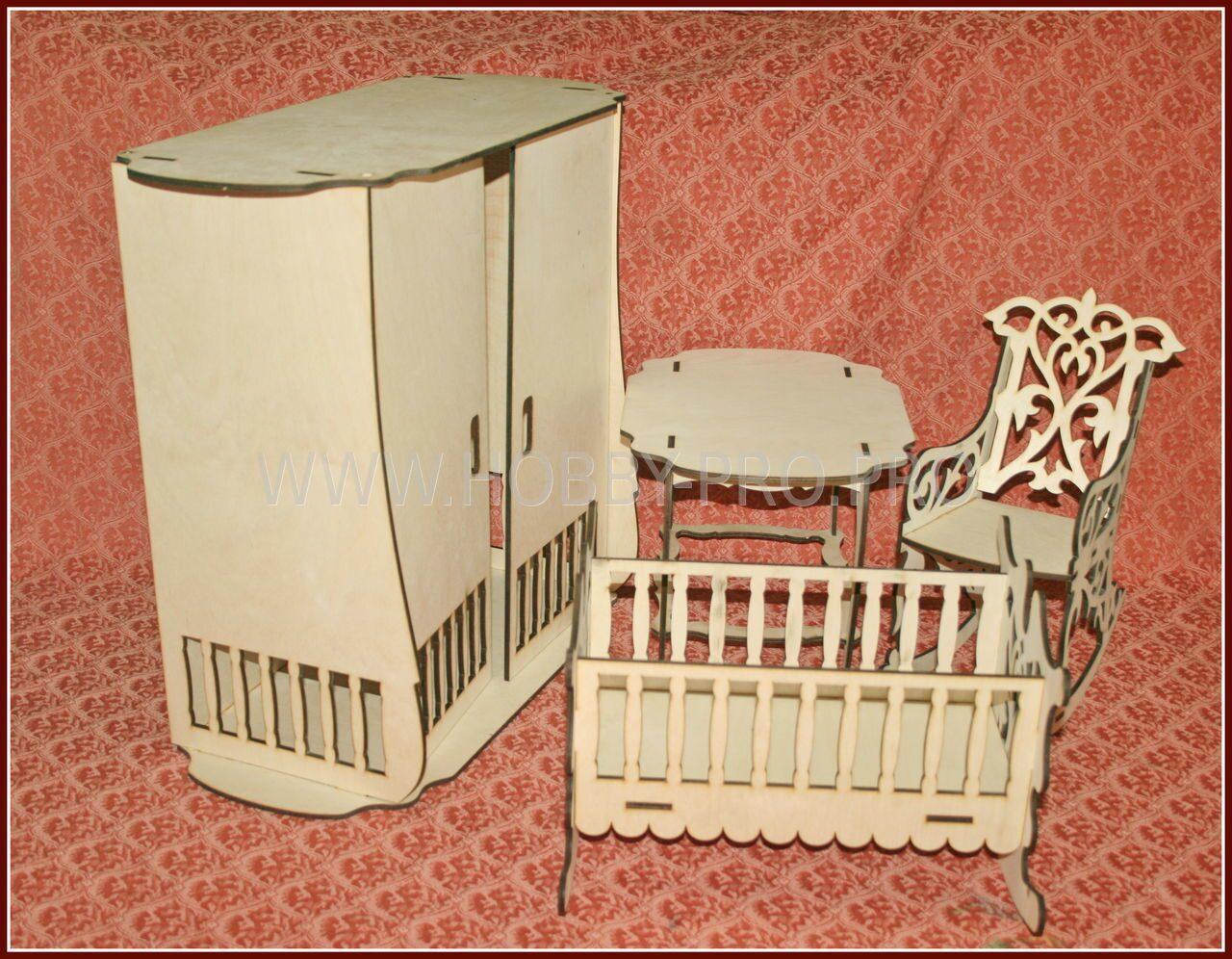 Кресло для куклы из фанеры 164