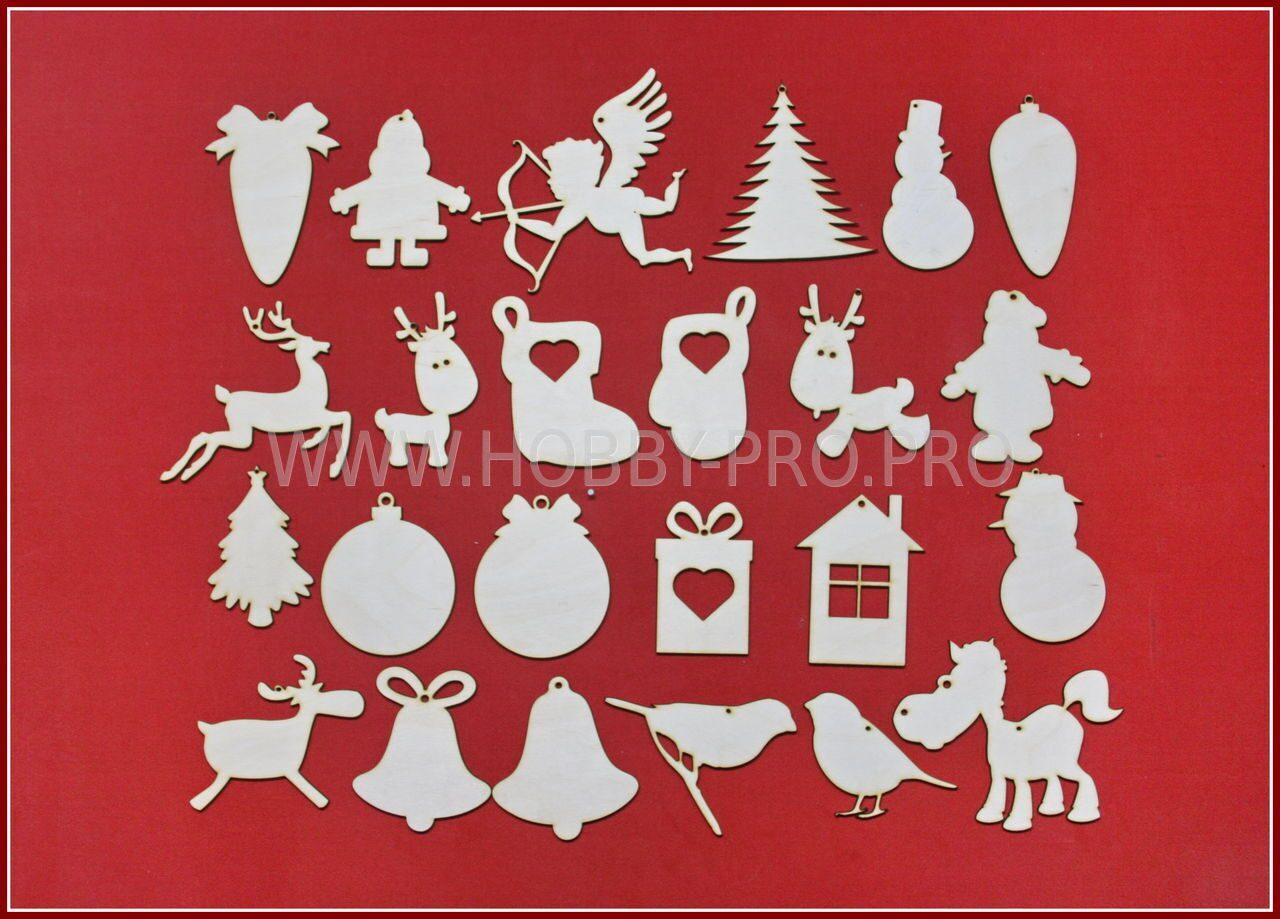 Новогодние игрушки из фанеры своими руками картинки